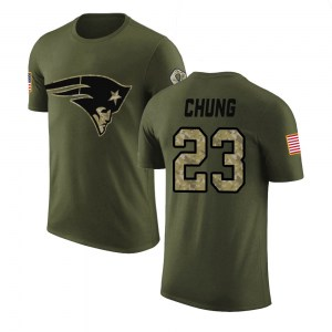 Patrick Chung New England Patriots Men's Legend Olive Salute to Service T-Shirt