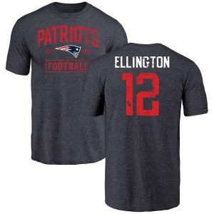 Bruce Ellington New England Patriots Youth Navy Distressed Name & Number Tri-Blend T-Shirt
