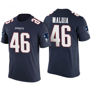 Cassh Maluia New England Patriots Youth Legend Navy Color Rush T-Shirt