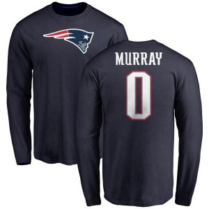 Bill Murray New England Patriots Youth Navy Name & Number Logo Long Sleeve T-Shirt -