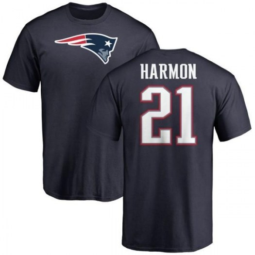 Duron Harmon New England Patriots Men's Navy Pro Line Any Name & Number Logo T-Shirt -
